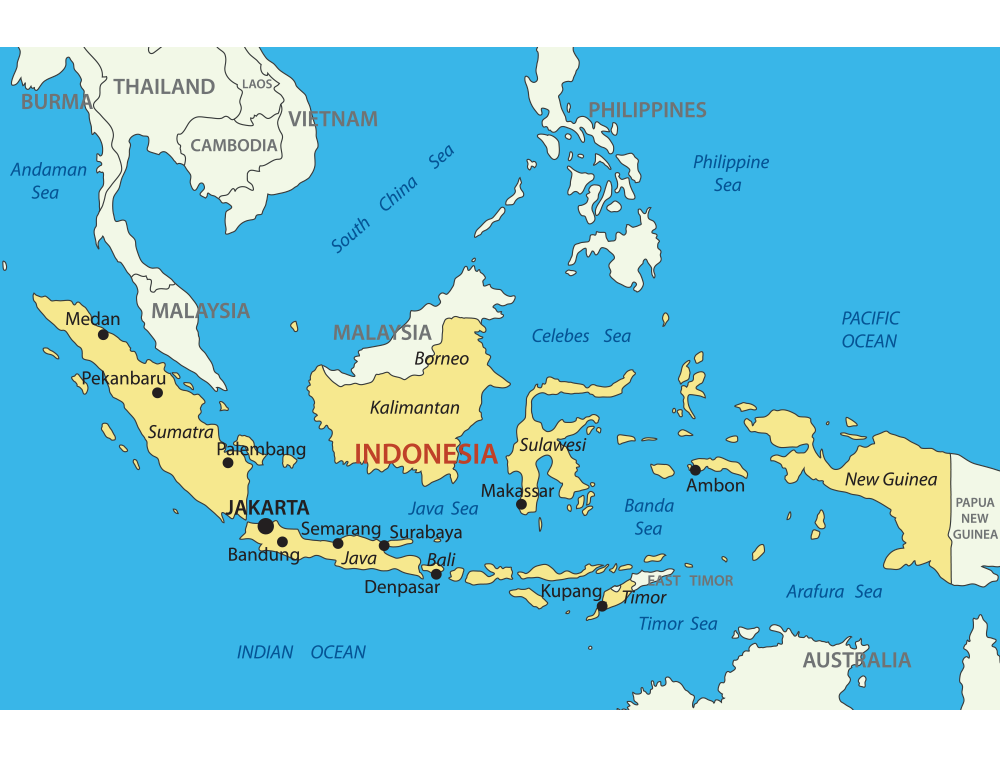 Indonesia map with cities blank outline map of indonesia asia indonesia map with cities blank outline map of indonesia gumiabroncs Gallery