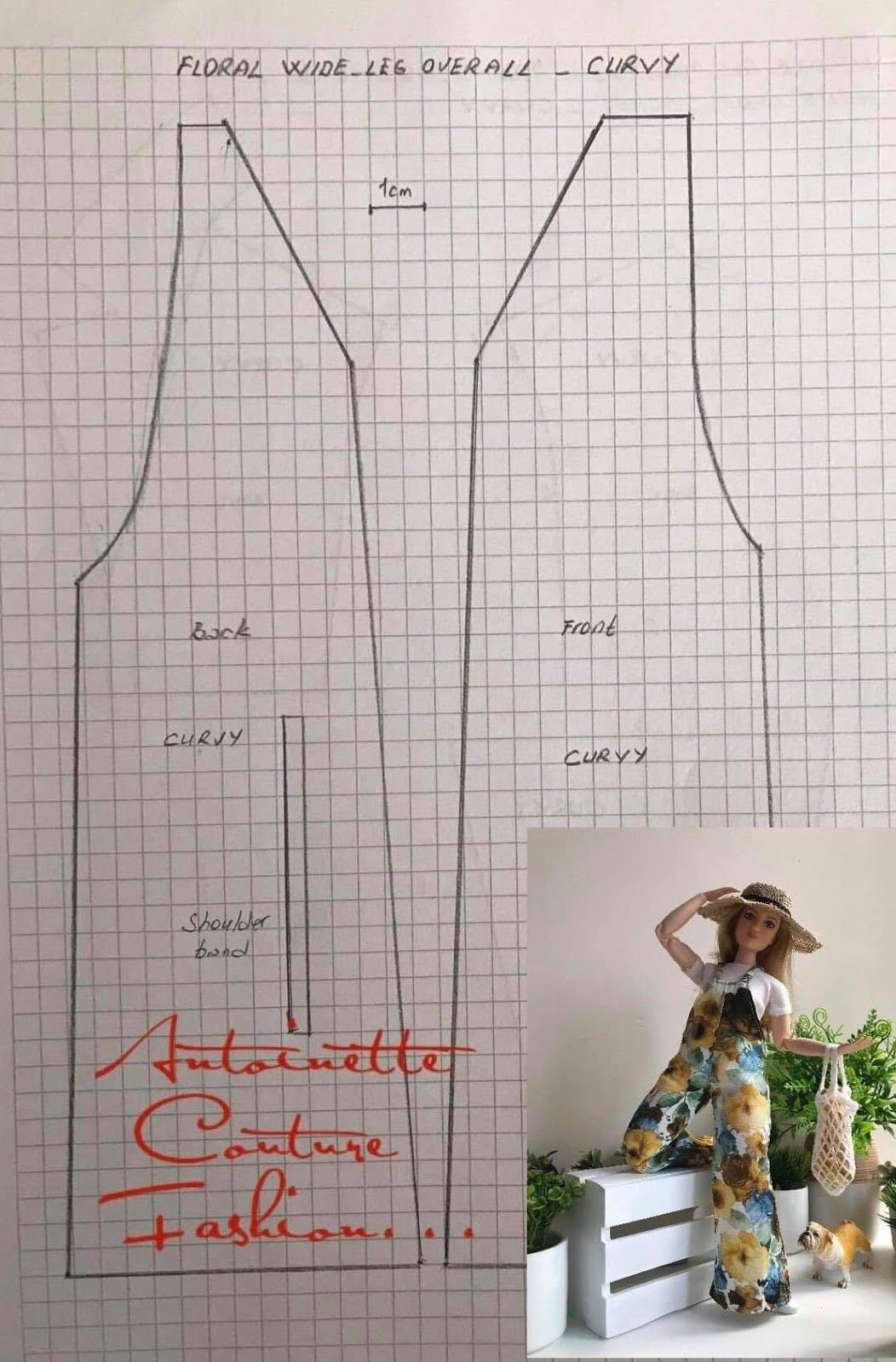 Fashion Dolls Couture - Unlimited: Sunshine 3 -Floral wide-leg Overal - Barbie made t... #dollscouture