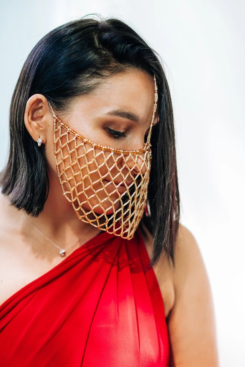 Hand made mask in 2020 Photoshoot dress, Flowy dress