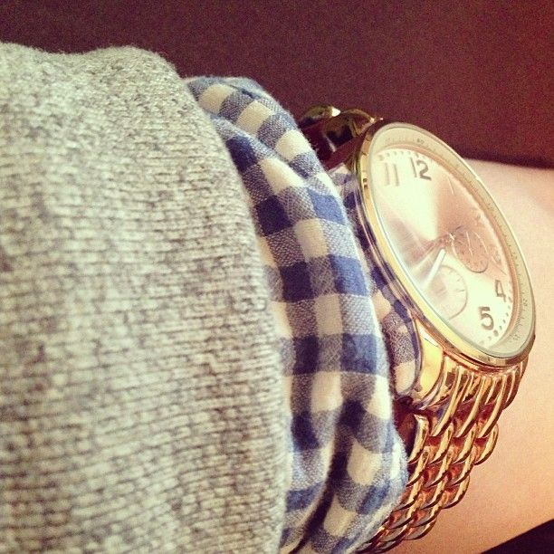 layering #watch #gingham #winter