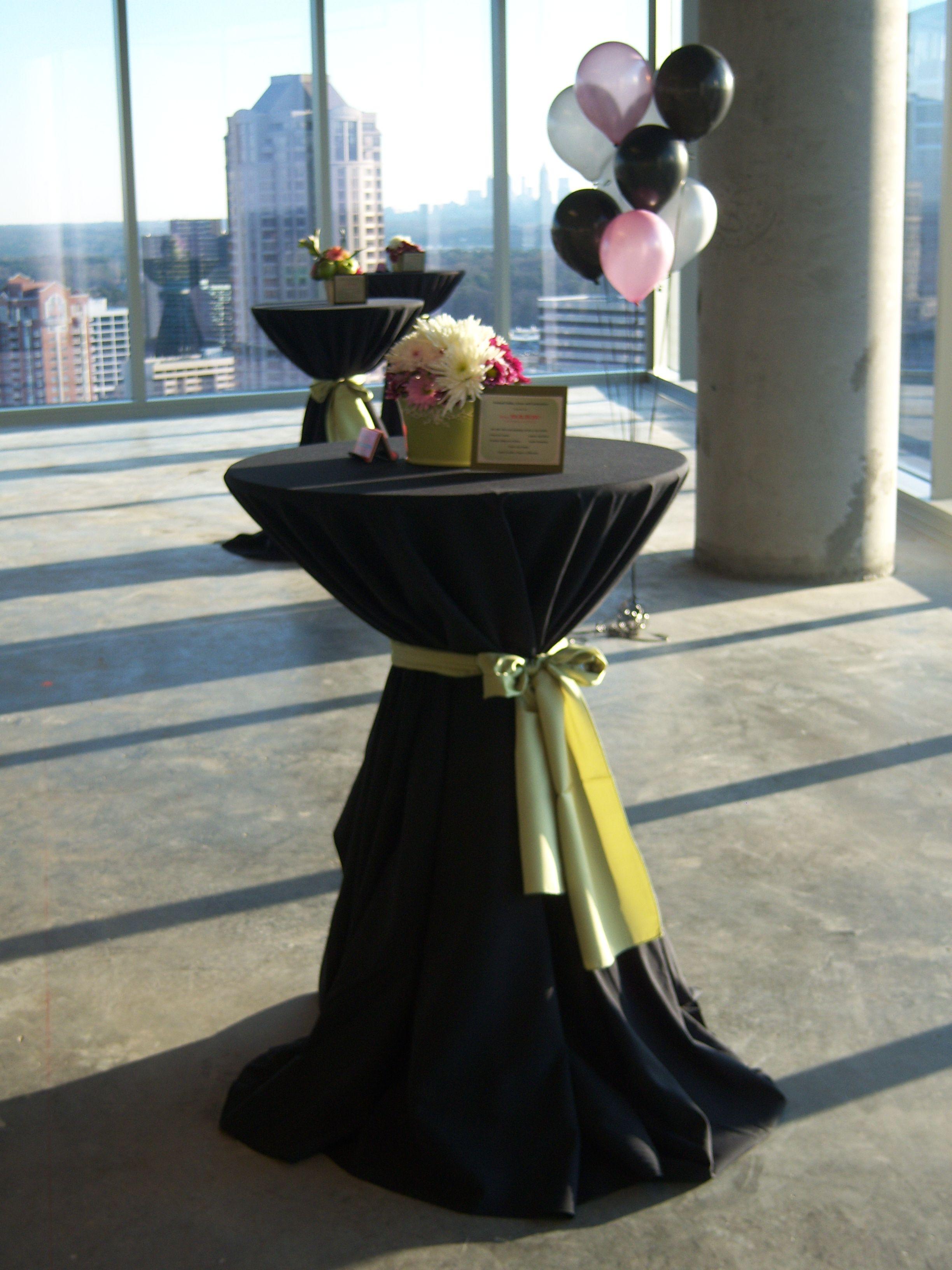 Best High Boy Tables Set Up For A Fundraiser Linen 400 x 300