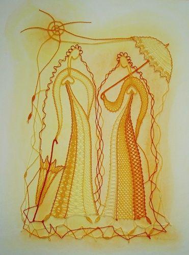 paličkované obrazy - Katky Búranovej