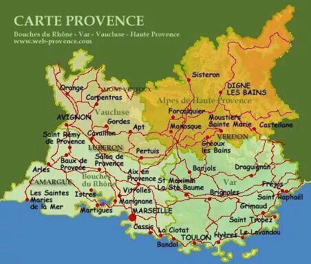 Carte De Provence Carte De France Cote D Azur Provence