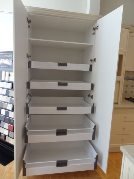 Pantry Cupboard with blum internal drawers - soft close | Kitchen ...
