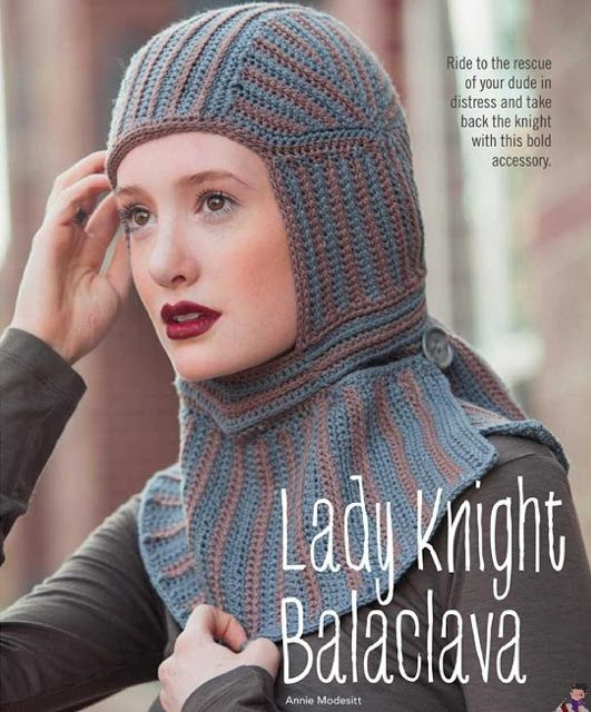 Patrón #1234: Lady Knight Balaclava a Crochet http://blgs.co/MDFX7O ...
