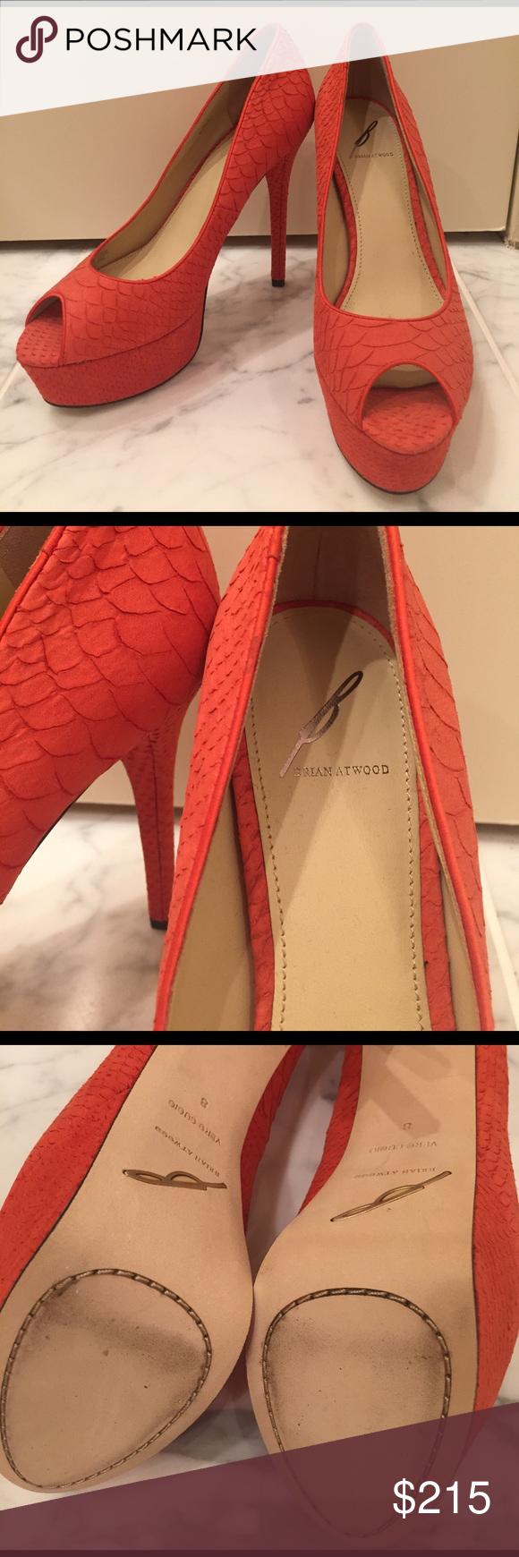 Brian Atwood Orange Python Heels & Brian Atwood Orange Python Heels | Brian atwood Orange and Platform