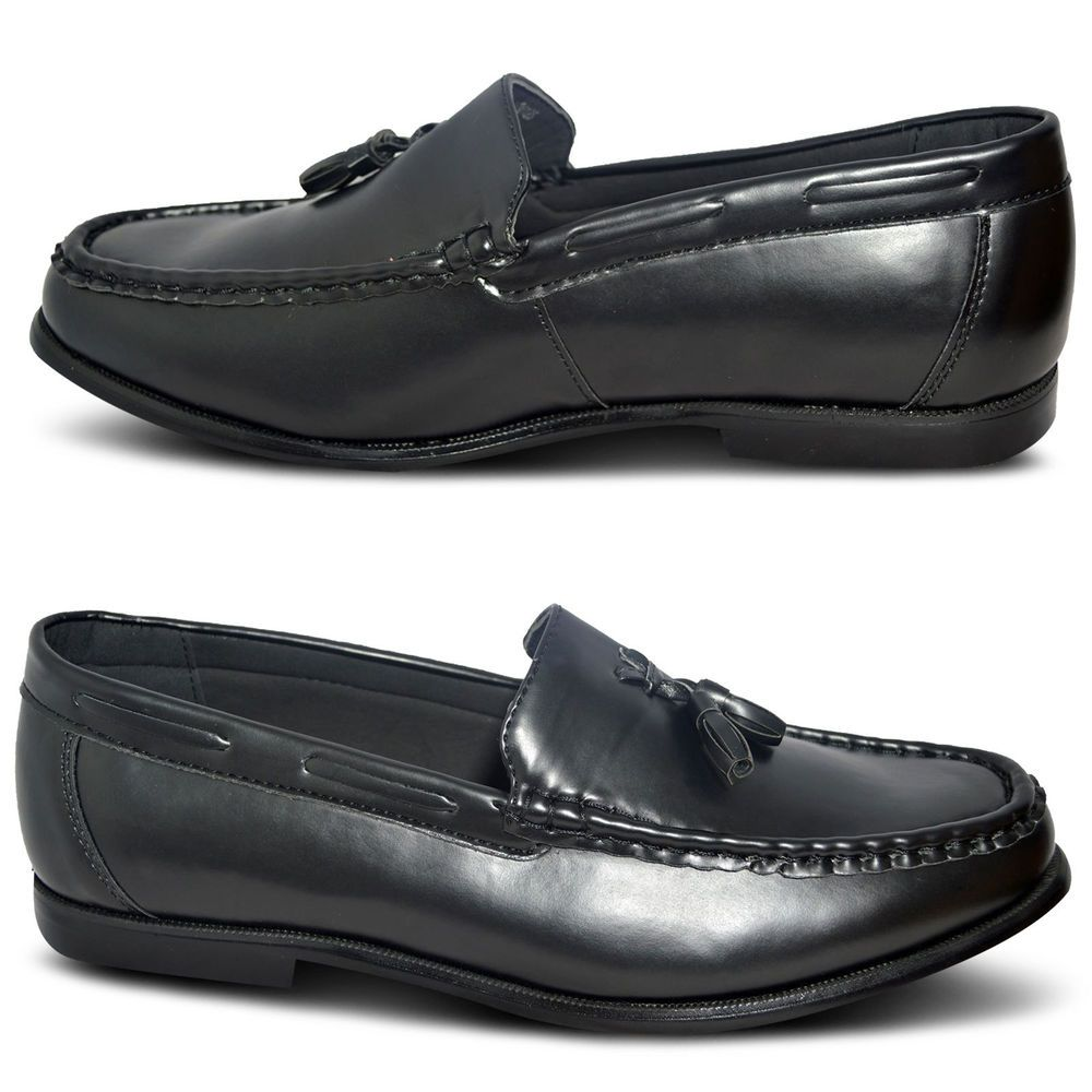 New Mens Slip On Smart Casual Tel Loafers Driving Dress Office Shoes Size Uk