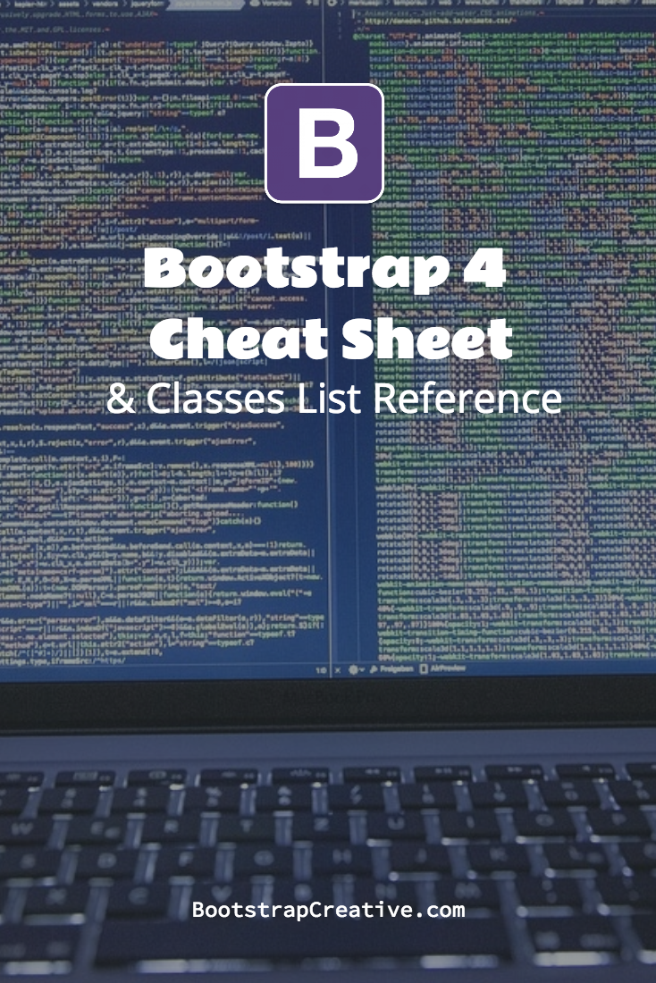 Bootstrap 4 All Classes List With Descriptions Free Cheat Sheet Pdf