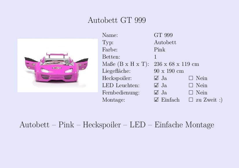 kinderbett m dchen auto autobett pink steckbrief kinderbett pinterest m dchen auto. Black Bedroom Furniture Sets. Home Design Ideas