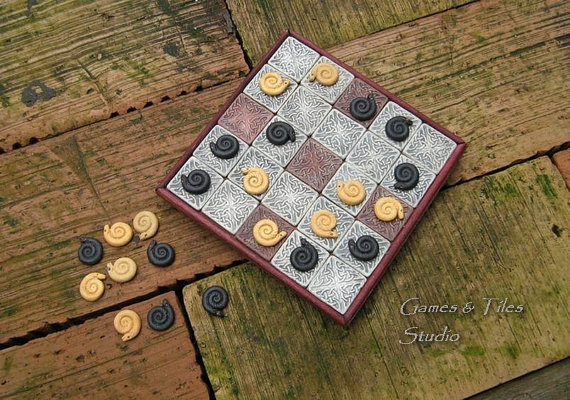 All of our Games are completely handcrafted by us. They are glazed and fired in kiln.  Seega is an ancient Egyptian board game similar to