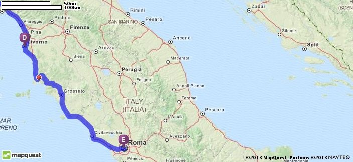 Driving Map Of Italy.Beaches Mapquest Italy Rome