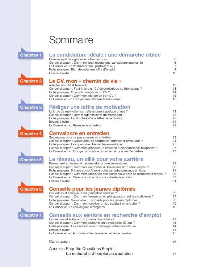 Bien Chercher Un Emploi Le Guide En 50 Pages Chercher Un Emploi Recherche Emploi Emploi