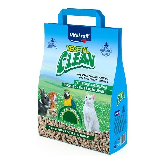 Lecho Vitakraft para roedores, pájaros y gatos Vegetal Clean Universal