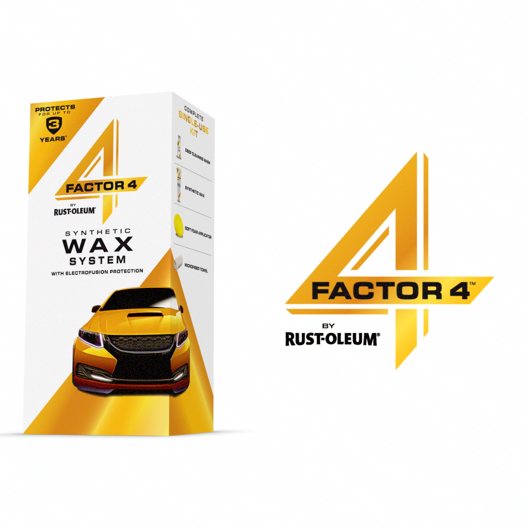 Meet The Newest Innovation From Rust Oleum Factor 4 The New Synthetic Car Wax That Protects Your Car S Surface For Up To Video Car Wax Car Upholstery Car Cleaning