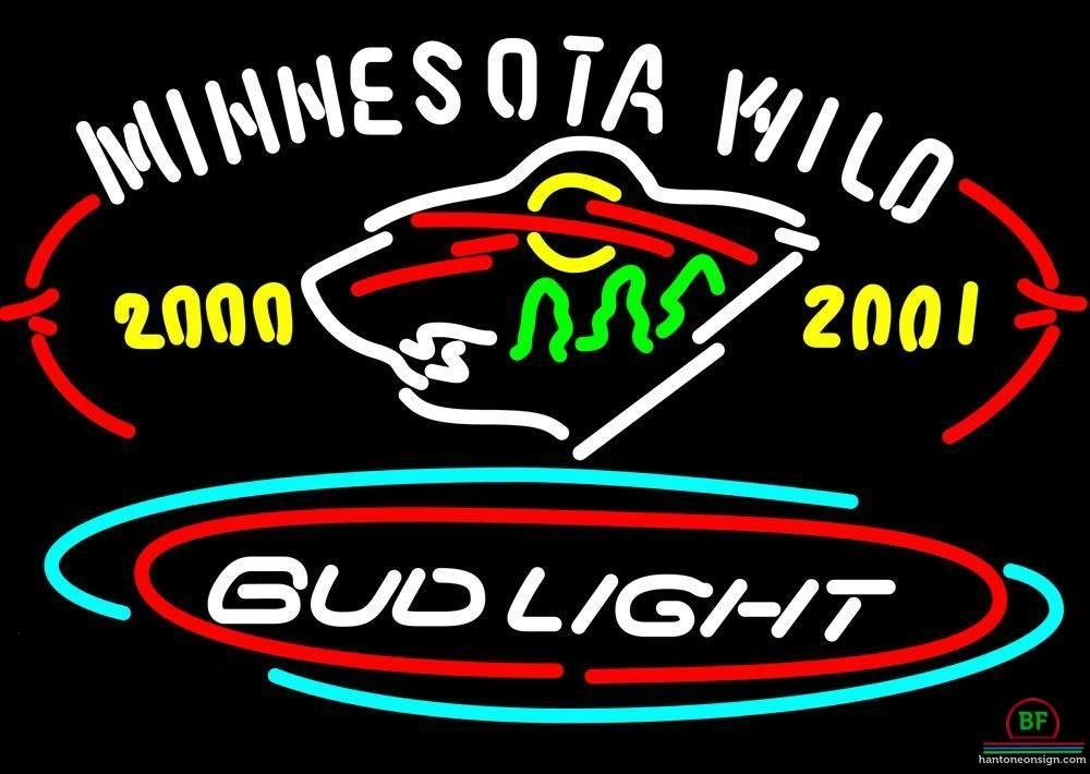 Bud Light Minnesota Wild Neon Sign Nhl