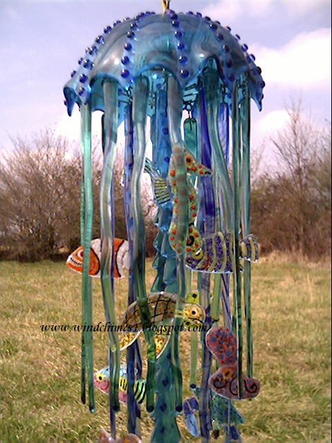 glass windchimes - Bing Images - Just add a light buld?