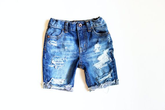 94ae0ea8b1 Jax Cutoff Shorts Knee Length Boy Baby/Toddler/Child Distressed Denim  Ripped Jeans Shorts