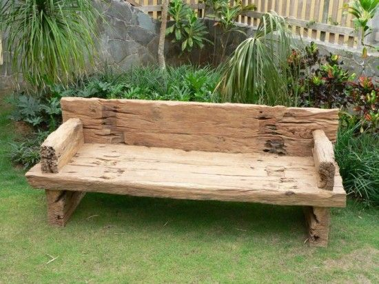 Outstanding Big Timber Bench Might Look Cool With Some Blue Pots And Gamerscity Chair Design For Home Gamerscityorg