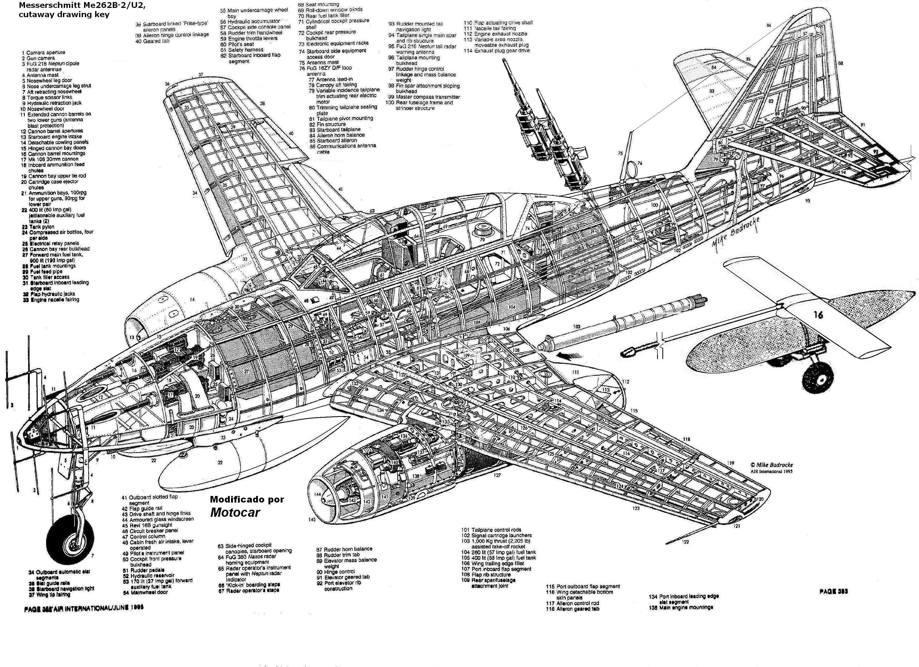 Me262 Night Fighter Cutaway