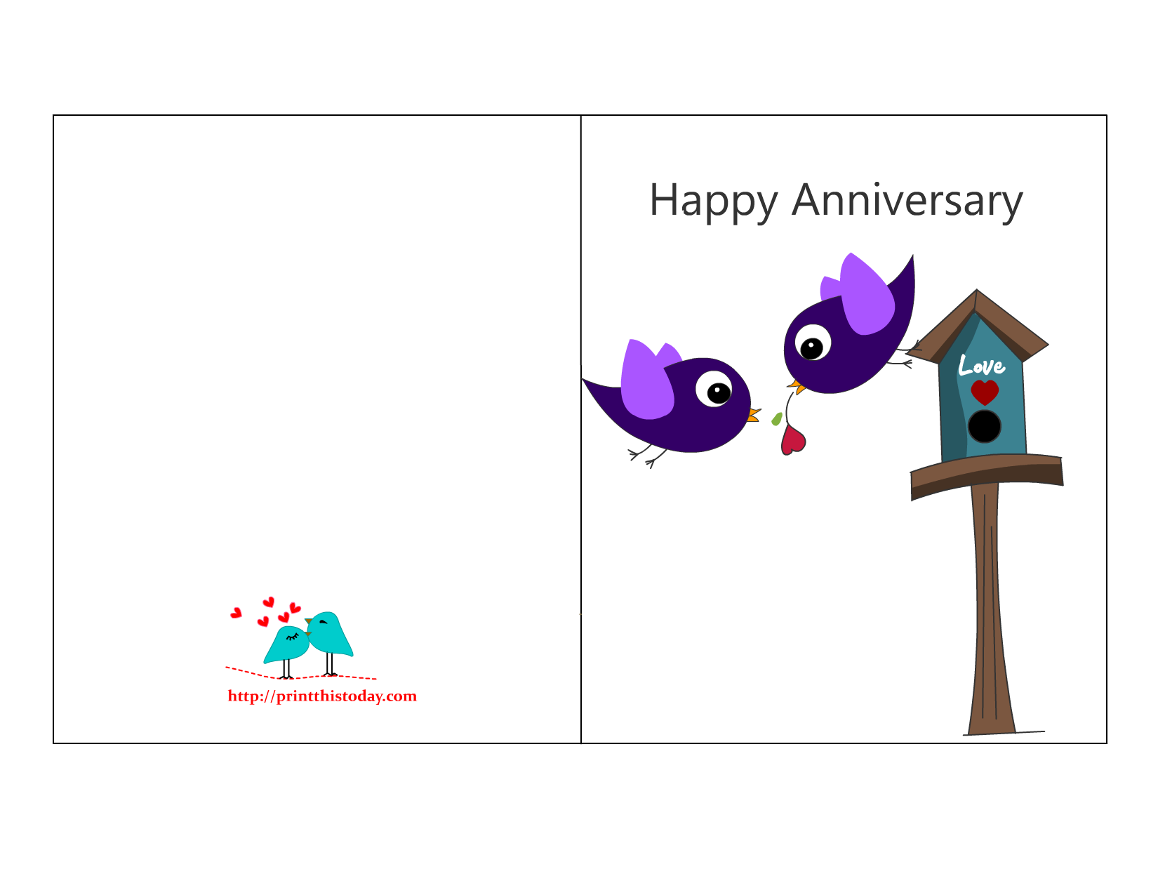 picture about Printable Anniversary Cards identify Free of charge Anniversary Playing cards in direction of Print Totally free Printable Anniversary
