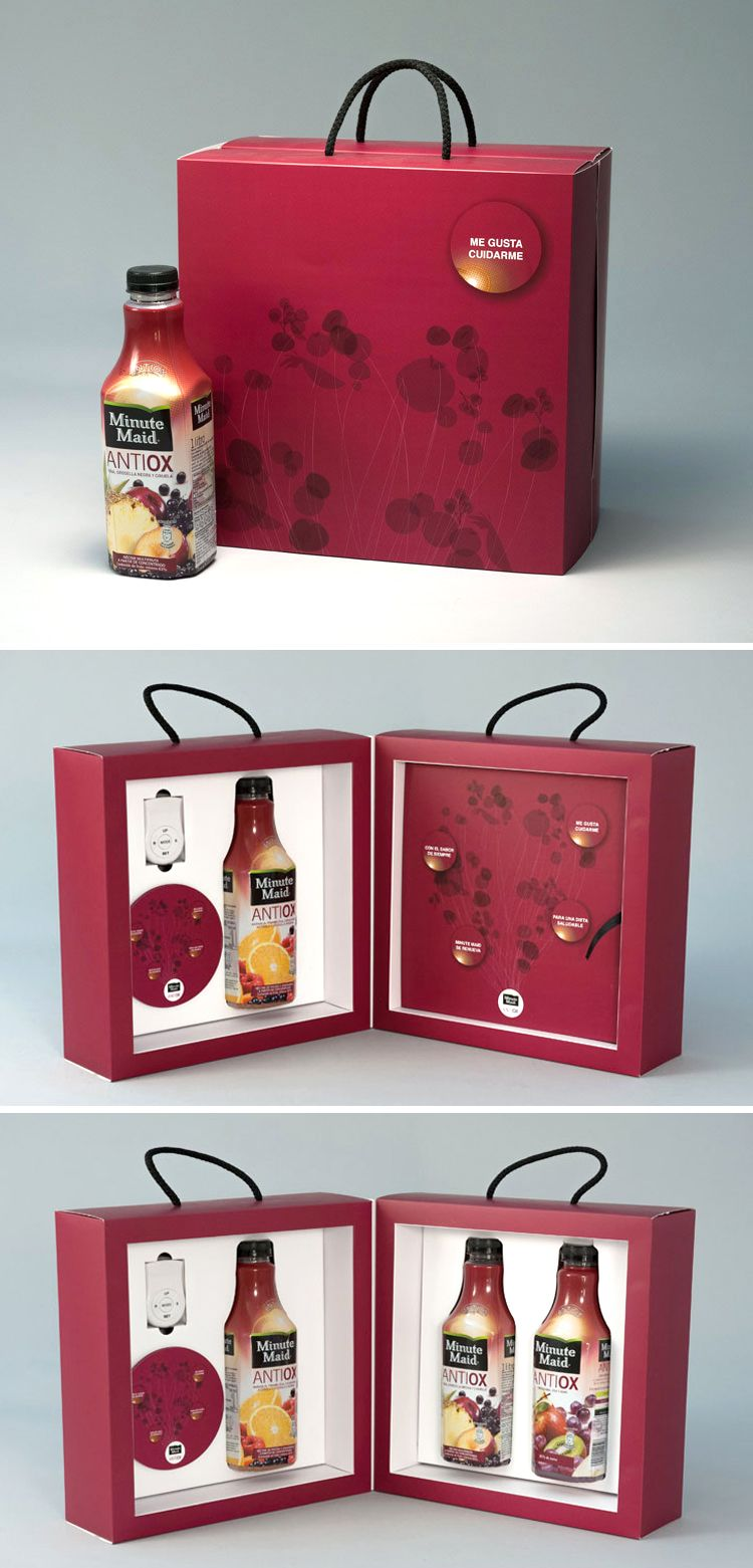 Minute Maid Antiox Launch Kit And Sales Folder Cajas Promocionales Carton