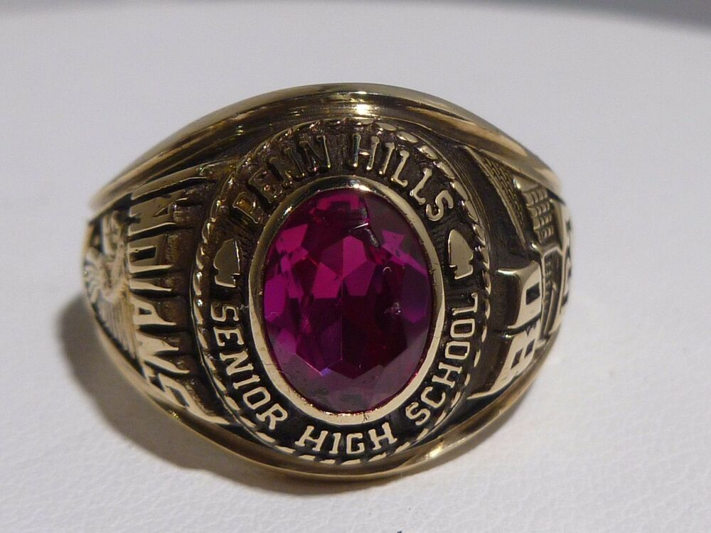 Amazing 1980 indians ring 10k gold penn hills senior high