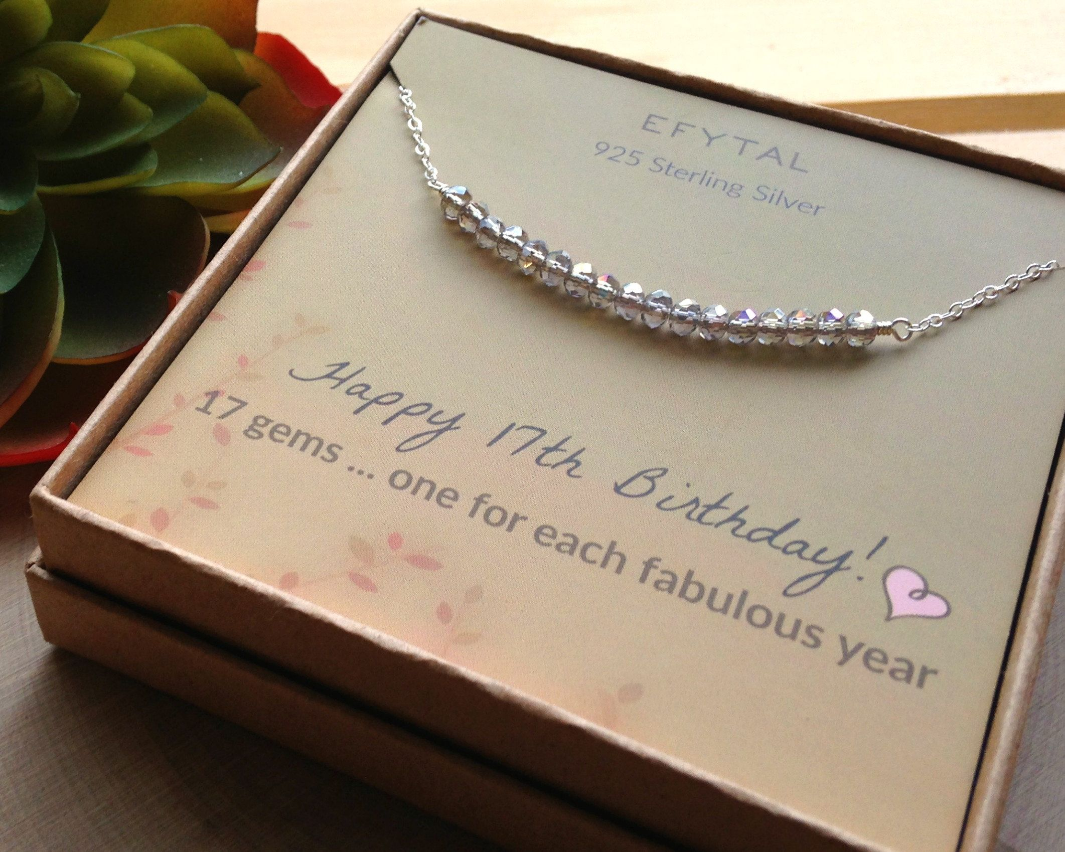 17th birthday gifts for girls sterling silver necklace 17