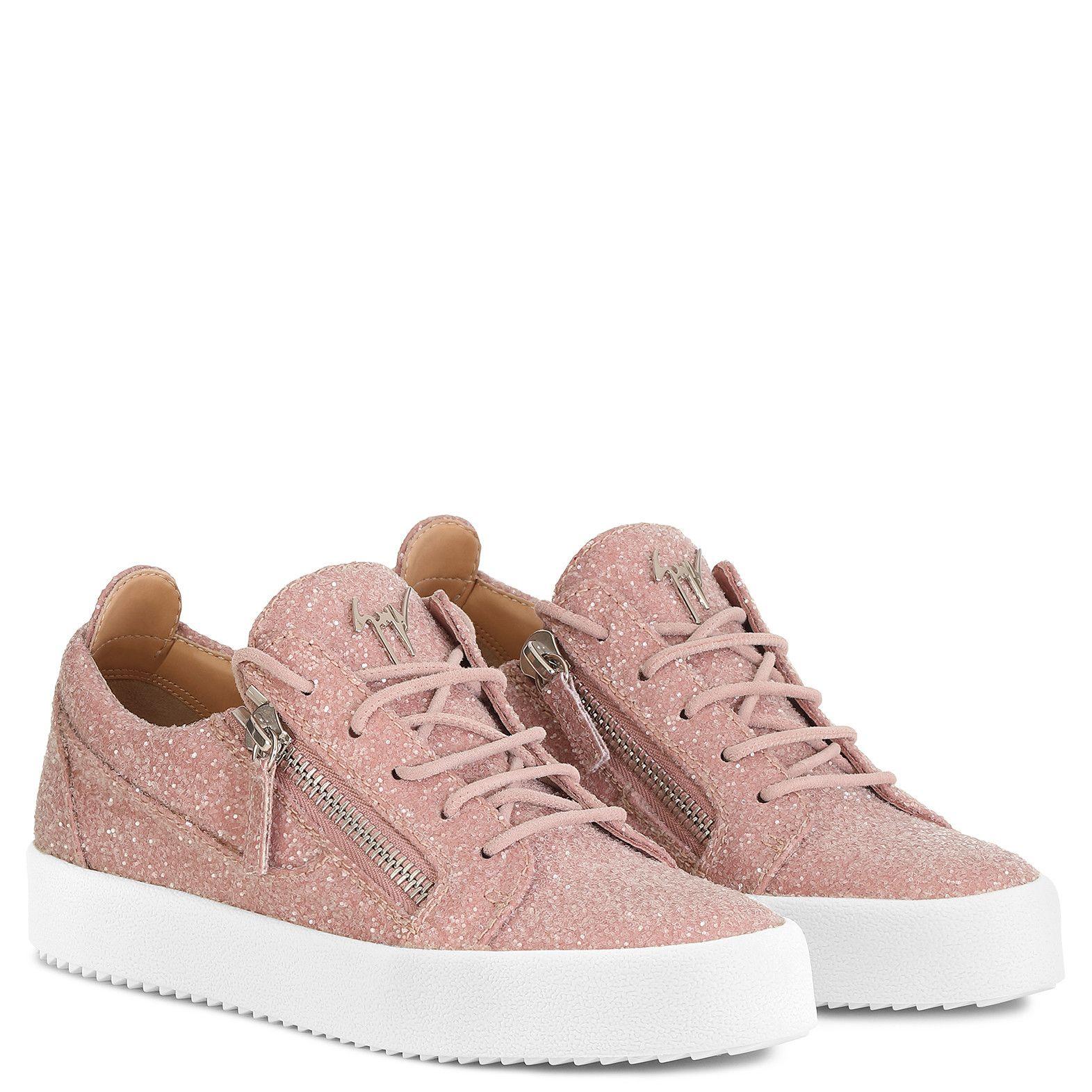 ddf2effb3095f Cheryl Glitter - Low Tops - Pink | Giuseppe Zanotti - US in Pink Glitter