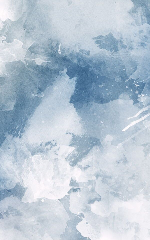 White & Blue Watercolor Wallpaper Mural