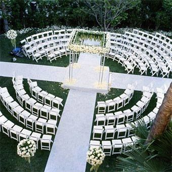 A Creative Wedding Ceremony Setup Lifeevents