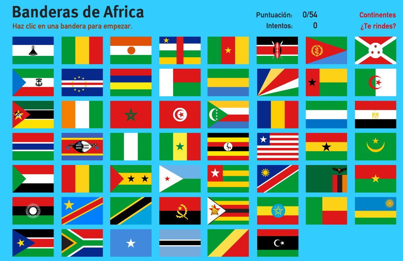 Banderas de África. Juegos de Geografía | africa | Pinterest | Africa