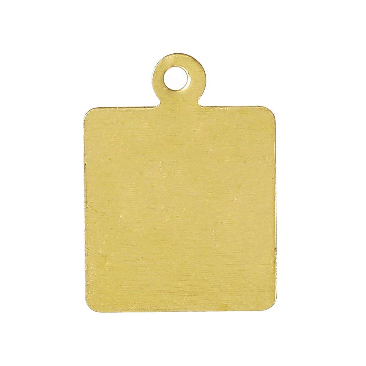 15 Gold Brass Sheet Metal Stamping Blanks Square Tag 1 Hole 17x12mm 26 Gauge Msb0184 Metal Stamping Blanks Metal Stamping Stamping Blanks