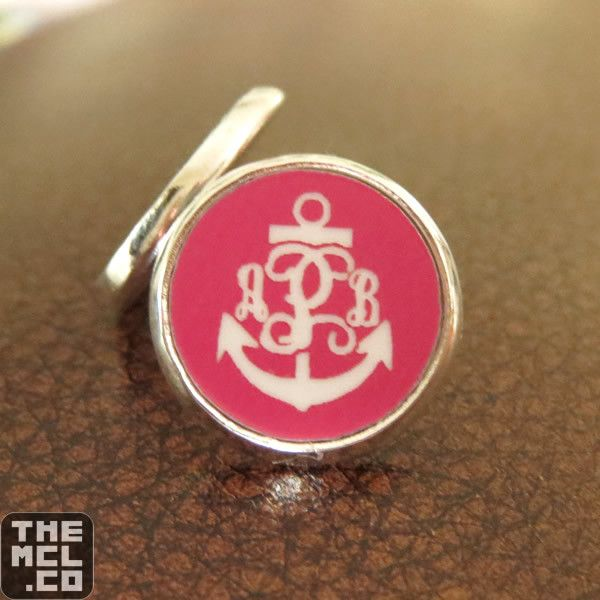 Earrings – Palmetto or Anchor Monogram (3 Initials)