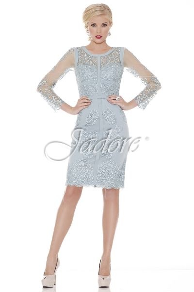 Fashionably Yours Annie Mother Of The Bride Lace Dress In Dove