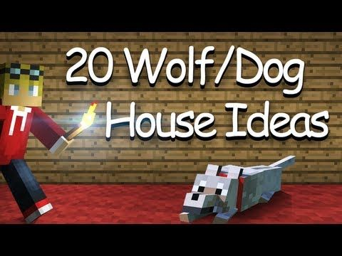 20 Wolf Dog House Kennel Ideas And Designs Minecraft Youtube