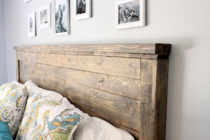 Distressed Wood Headboard (Standard King Size) -   19 diy Headboard king ideas