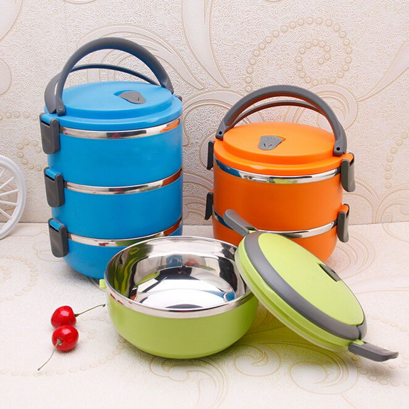 Thermo Server Food Storage Container Insulated Thermal Lunch