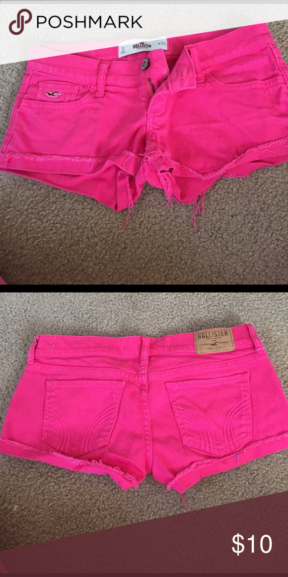 Hollister pink shorts Super cute color for summer. The shorts are in size 0 Hollister Shorts Jean Shorts