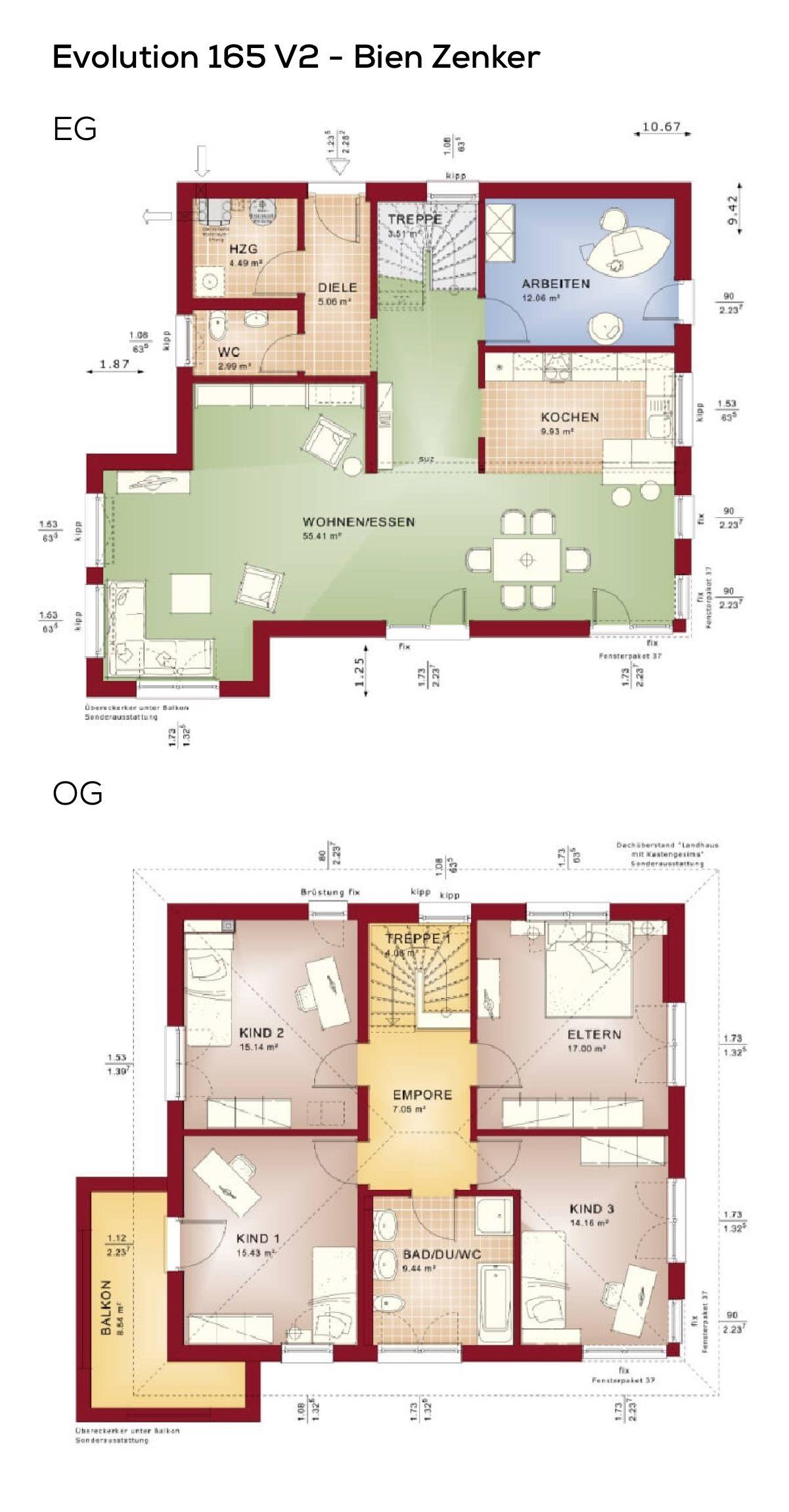 Grundriss Stadtvilla Landhaus mediterran mit Walmdach Architektur ...