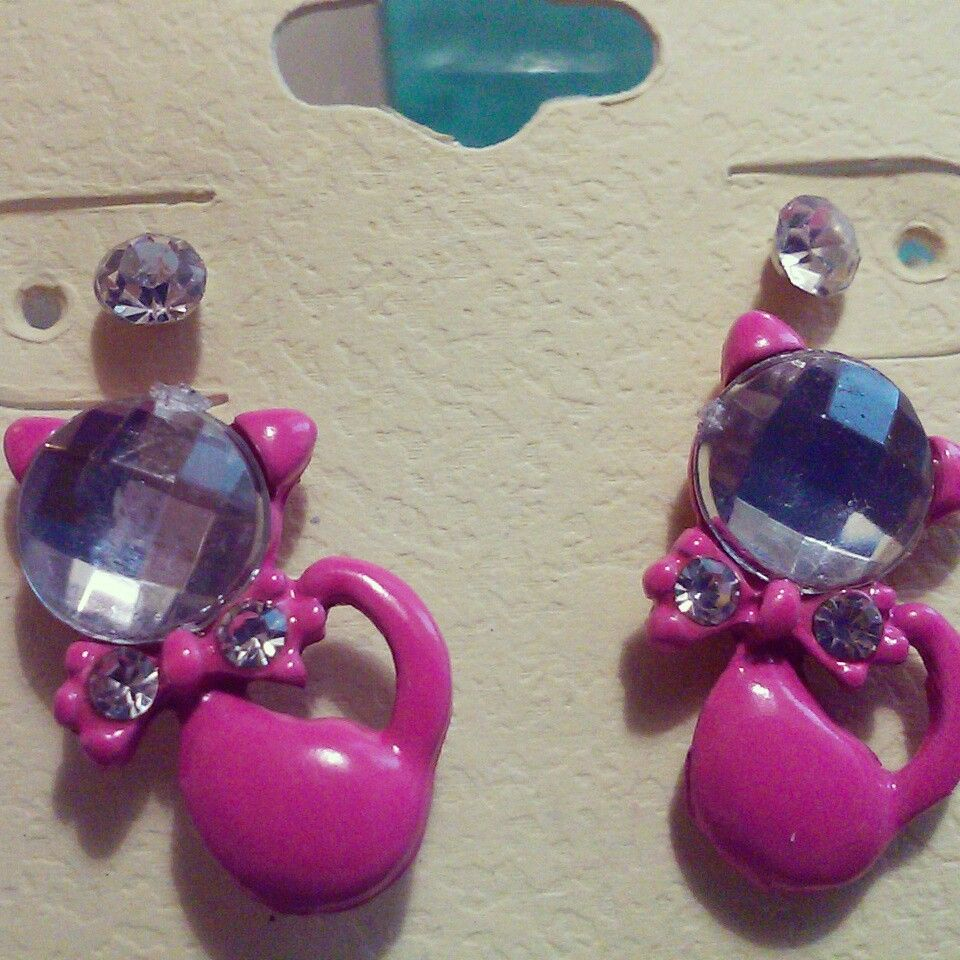 """""""Here Kitty Kitty"""" Earring Set $3 more color choices on facebook page"""