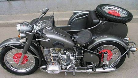 Changjiang 750 - These are Chinese army sidecar motorcycles, copies of the 1938 BMW R71. Sweet.