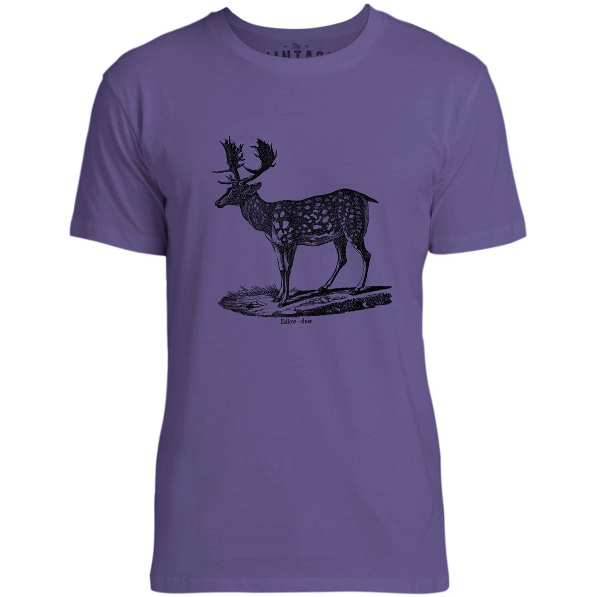 Mintage Spotted Deer Mens Fine Jersey T-Shirt (Purple)