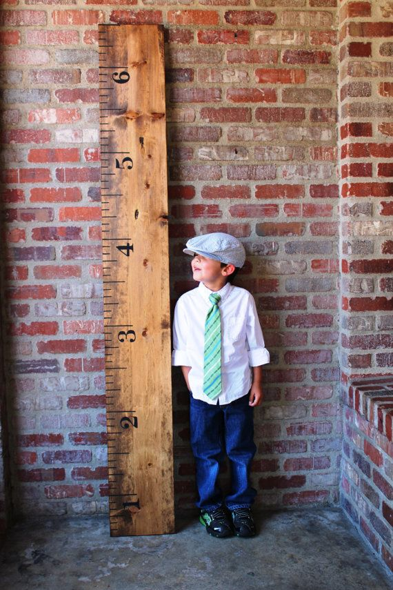 Samantha banks vintage oversized growth chart ruler maybe with the