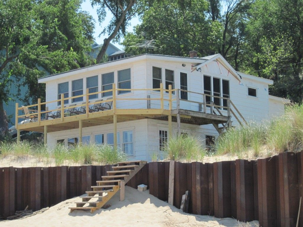 vrbo com 430273 charming beach front cottages travel indiana rh pinterest com  indiana beach cabin rentals