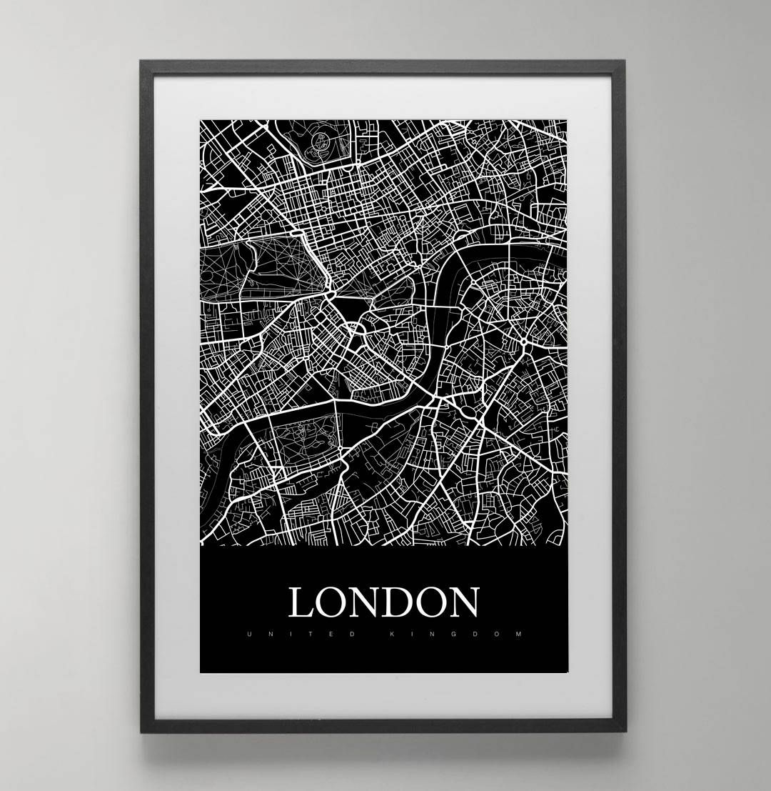london map print united kingdom england ukstreet map city map