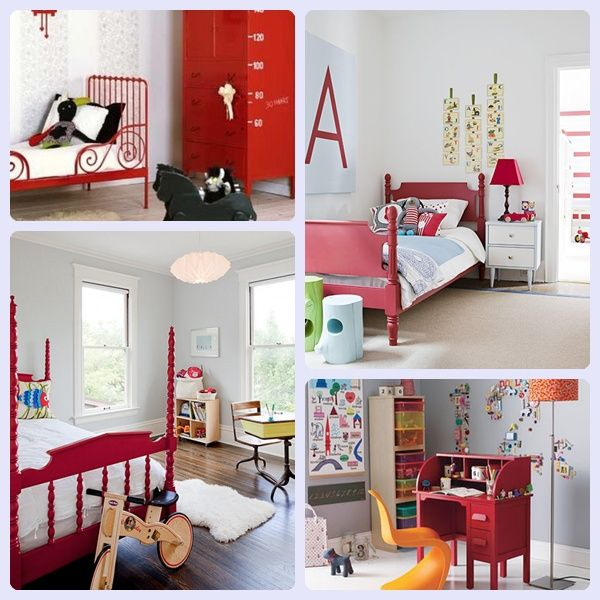 Decorar la habitaci n infantil en rojo bebe habitaciones infantiles decorar habitacion - Decorar habitacion infantil ...