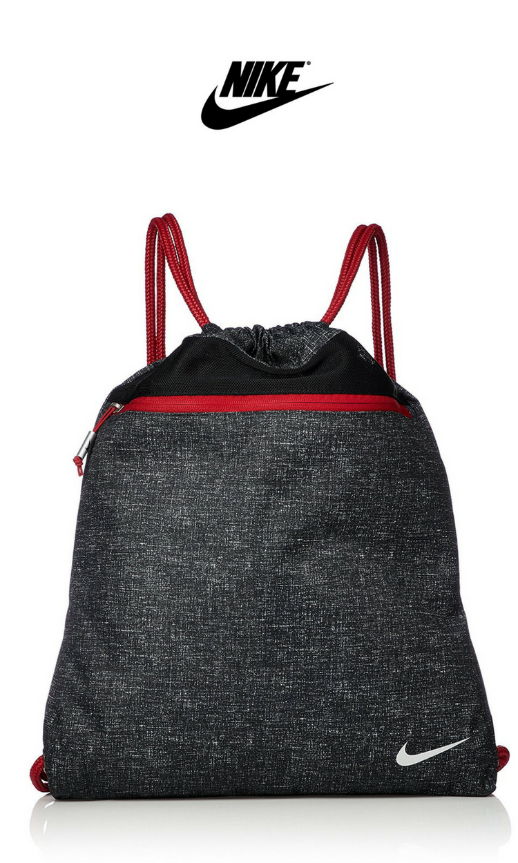 new arrival ac942 a7b2e Nike - Sport III Drawstring Gym Sack   Black Gym Red   Click for Price and  More   Nike Fashion   Nike Style   Gym Bag   Everyday Bag   Day Pack ...