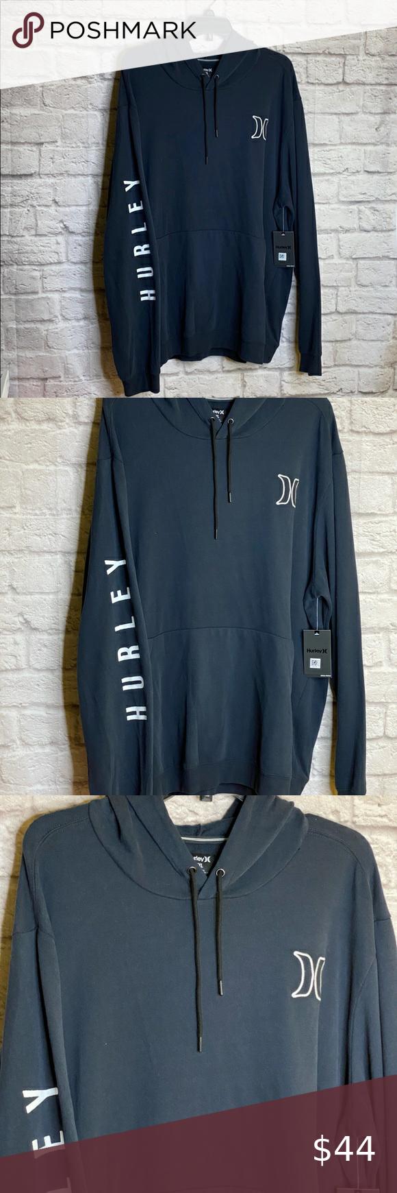 Hurley Black Hoodie Pullover Sz Xxl Mens New Nwt Black Hoodie Black Pullover Hoodie Pullover Hoodie [ 1740 x 580 Pixel ]