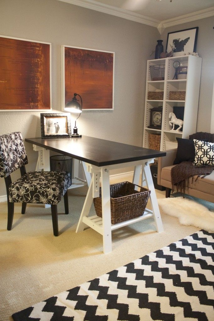 lovely home office setup. The Blissful Bee\u0027s Office Makeover Lovely Home Setup
