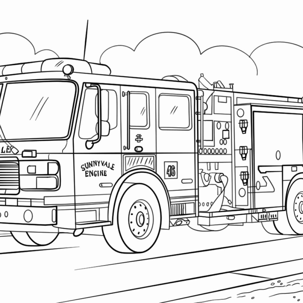 Recycling Truck Coloring Page In
